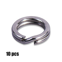 10 Pcs 3, 3.5, 4, 4.5, 5, 5.5, 6,7 7.5 Mm Stainless Steel Heavy Duty Split Cincin Terminal Tackle(China)
