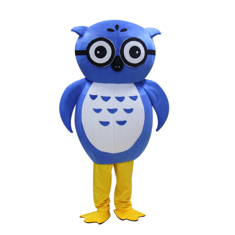 High quality Adult Owl Mascot Costume Blue Owl cosplay costumes Free shipping