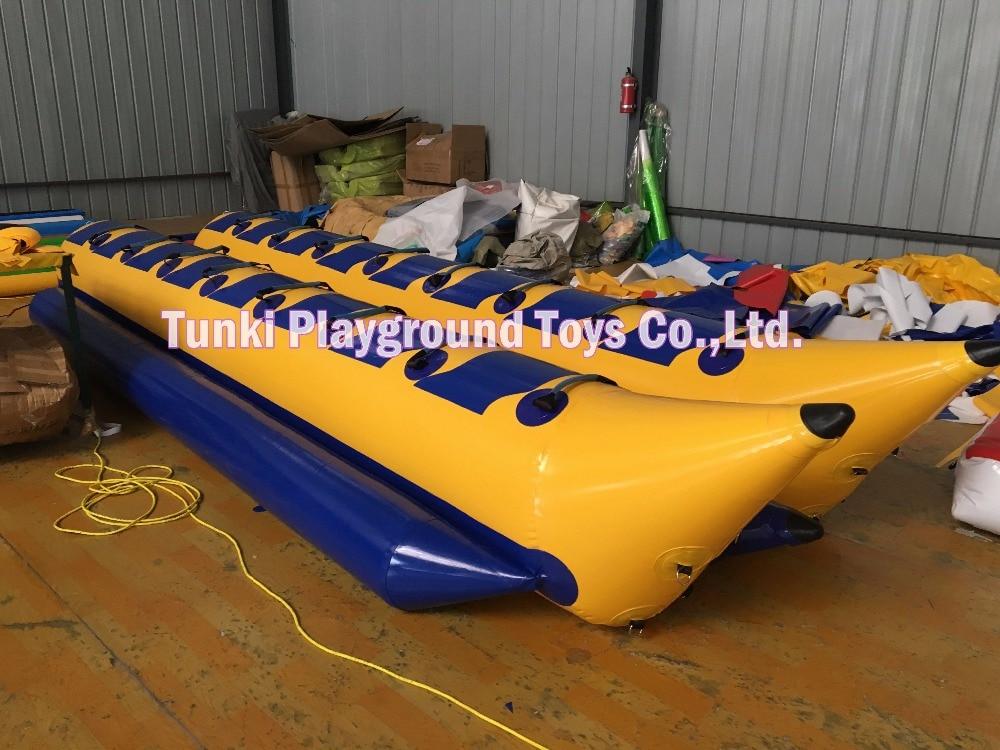 PVC materials 0.9mm Banana boat - double 12 seats