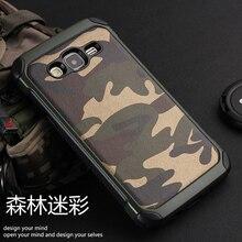 Мода Camo Phone Case Для Samsung Galaxy J7 J700 Пластиковые и ТПУ Футляр Обложка Камуфляж Стиль Броня Защитник J700H J700M Shell