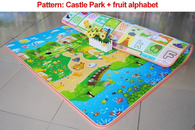 Անվճար առաքում Baby Toy Crawling Play Mat 200 * 180 * m - Խաղալիքներ նորածինների համար - Լուսանկար 3