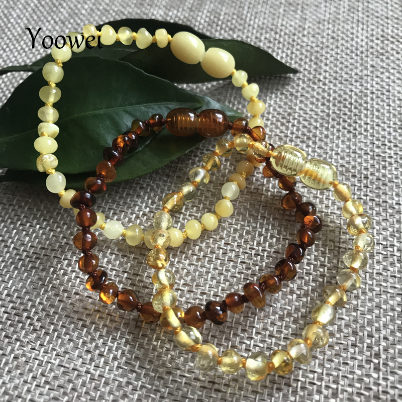 HTB1O7bIejgy uJjSZR0q6yK5pXa7 Yoowei Natural Amber Bracelet/Anklet for Gift Women Amber Bracelet Baltic 4mm Small Beads Baby Teething Custom Jewelry Wholesale