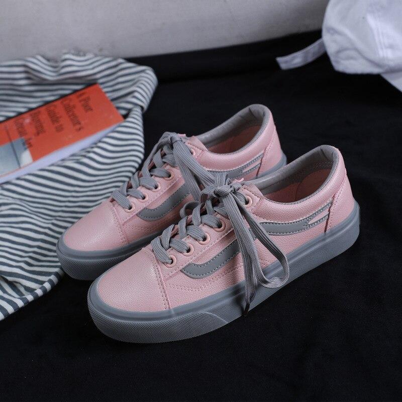 Nouveau Couleur Plates Simple Femmes Été blanc Correspondant Chaussures Sauvage Rose Mode De 2018 Casual 5q4TRngwq
