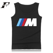 Car-styling Fashion Print Summer Sleeveless Tee Shirt Black White Bodybuilding Tank Tops Men Casual Vest Street Wear Tops