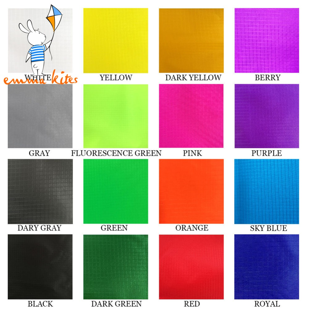 1.5m X 1m Ripstop Nylon Fabric 16 Colors 40D Ultra Light Kite fabric PU-Coated Outdoor Waterproof Fabric For Tent Flags Making