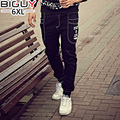 High Quality 2016 Autumn Winter Plus Size Pencil Jeans Men Elastic Baggy Mens Black Jeans Big Tall Male Denim Jeans 1046jean