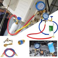 R22 R134A R410 R600 Opener Air Conditioner Fluoride Tube Quick Release Refrigerant Connector Cold Pressure Gauge