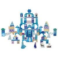 100pcs Frozen Princess Elsa Anna Ice Castle Set Model Building Blocks Girls Gifts Toys Kids Birthday Party Gift Toy