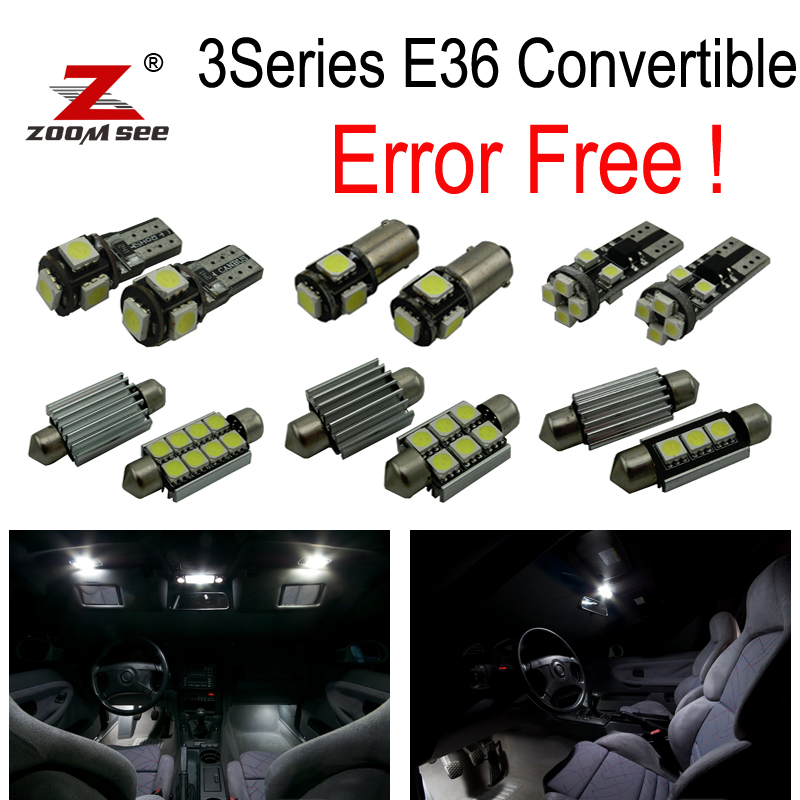 11pc X free shipping Error free LED Interior Light Kit for bmw 3 series E36 M3 318ic 323ic 325ic 328ic Convertible (1992-1998) 14pc x error free f30 led interior light kit for bmw new 3series f30 320i 328i 328d 335i 2012