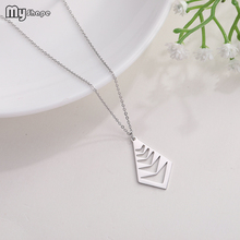 My Shape Geometric Quadrilateral Pendant Stainless Steel Womens Beauty and Beast Jewelry Gifts