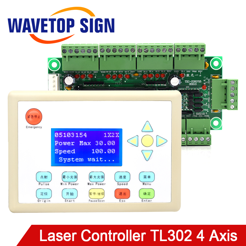 WaveTopSign CO2 Laser Control System TL 302 Stop Making for Laser Cutting and Laser Engraving Machine