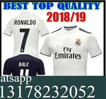 a2215491b NEW 2018 2019 REAL MADRID jersey 18 19 AWAY football camisetas RONALDO BALE  BENZEMA Thai AAA FOOTBALL shirt Soccer jersey