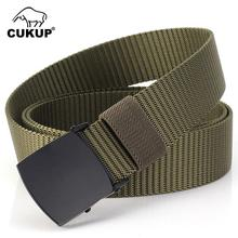 CUKUP 2018 Unisex Quality Design Outdoor Casual Nylon Waist Belts Automatic Buckle Accessories Belt for Men 3.0cm Width CBCK122