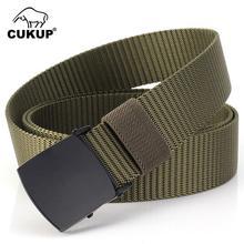 CUKUP 2018 Unisex Quality Design Outdoor Casual Nylon Waist Belts Automatic Buckle Accessories Belt for Men 3.0cm Width CBCK122