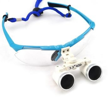Blu Dentista Dental Medical Surgical Binoculari 3.5X420 Millimetri Di Vetro Ottico Lente Di Ingrandimento Shiping Da STATI UNITI D'AMERICA
