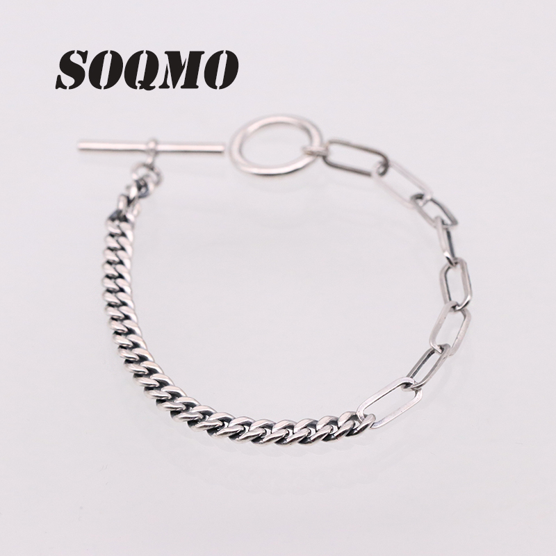 SOQMO Loom Bands Couple Bracelet 100% 925 Sterling Silver
