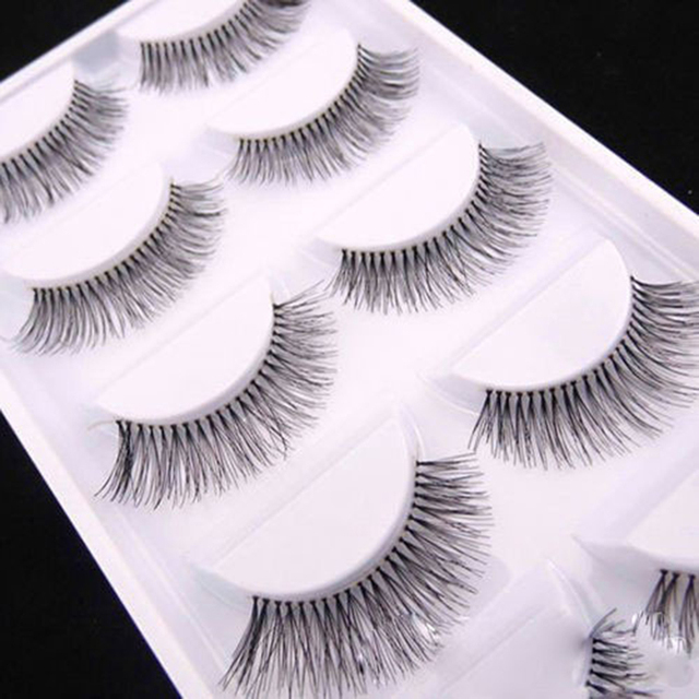 5Pairs/Set Natural Black Long Sparse Cross False Eyelashes Thick Fake Eye Lashes Extensions Eyes Makeup Cosmetic Tools