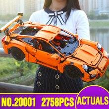 Лепин 20001 20087 23002 23018 23006 техника серии Legoinglys гоночный автомобиль кирпичи 42056 модель здания Конструкторы игрушка рождественские подарки