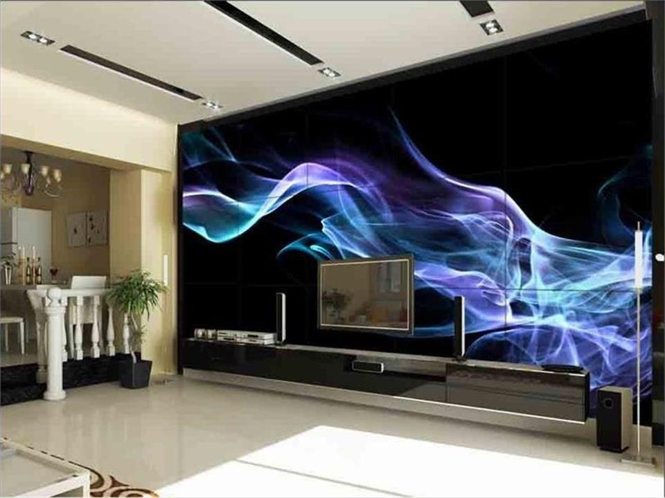 US $13.9 55% OFF|Benutzerdefinierte 3d fototapete wohnzimmer mural blaue  flamme blume 3d malerei tv hintergrund wand vliestapete für wand 3d-in ...