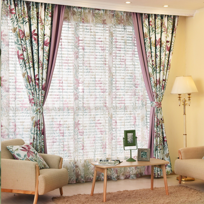 Bed Room Curtains Factory Girls Blinds Custom Living Items Voile Window Shade Darkening In From Home Garden On