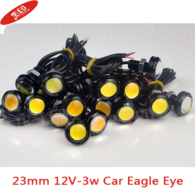 2Pcs High Power 23mm 12V Auto Car Eagle Eye Waterproof LED Daytime Running lights DRL Fog Parking Brake light Tail Warning lamp