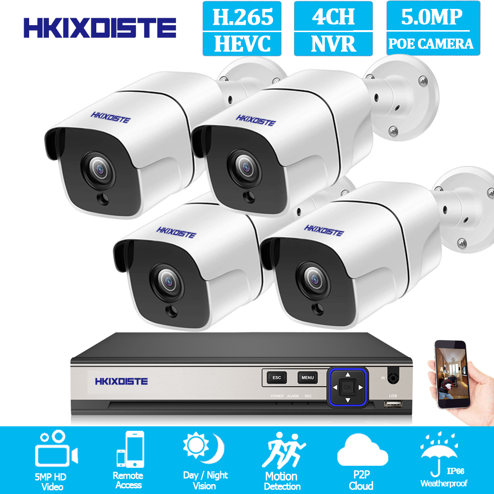 8CH 5MP POE Kit H.265 System CCTV Security Up to16ch NVR Outdoor Waterproof IP Camera Surveillance Alarm Video HKIXDISTE8CH 5MP POE Kit H.265 System CCTV Security Up to16ch NVR Outdoor Waterproof IP Camera Surveillance Alarm Video HKIXDISTE