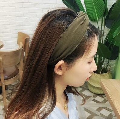 1 pc femmes lunette mode Style coréen bandeau femme filles décontracté élégant tissu croix couleur uni cheveux accessoires chapeaux 11