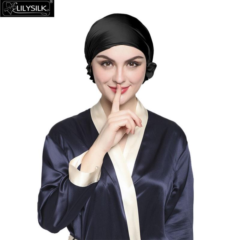 e32672238f0 Lilysilk Skullies   Beanie Silk Pure Sleep Cap Turban Women 19 Momme ...