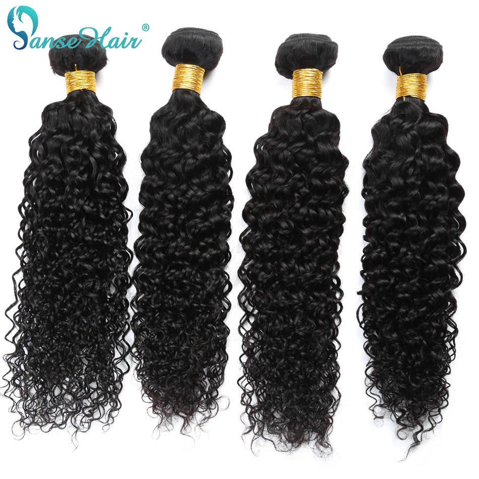 Panse Haar Kinky Krullend Peruaanse Haar 4 bundels Per Lot Non Remy Human Hair Weven Aangepaste 8 Om 30 Inches Haar Bundel