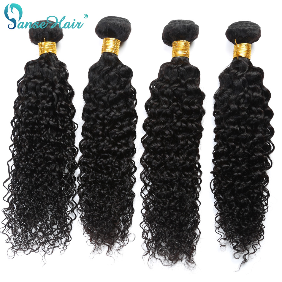 Panse Hair Kinky Curly Peruvian Hair 4 Bundles Per Lot Non Remy Human Hair Weaving Customized 8 To 30 Inches Hair Bundle
