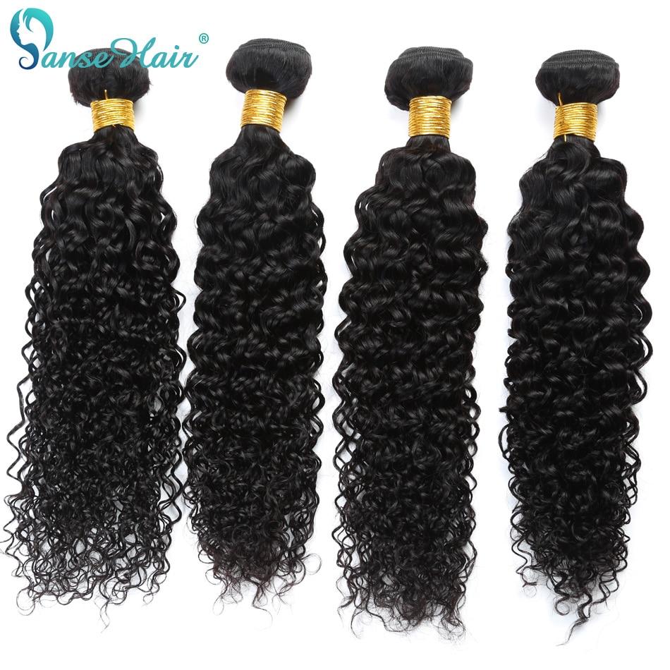 Panse Hair Kinky Curly Peruvian Hair 4 Bundles Per Lot Non Remy Human Hair Weaving Customized 8 To 30 Inches Hair Bundle