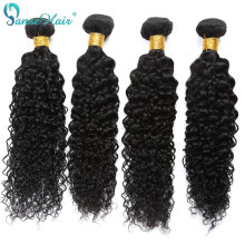 Panse Hair Kinky Curly Peruvian Hair 4 bundles Per Lot Non Remy Human Hair Weaving Customized 8 To 30 Inches Hair Bundle(China)