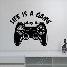 WXDUUZ Video Gaming Gamepad Joystick Gamer Quote Vinyl Decal Art Horror Decorr Wall Sticker Bedroom Home Decor Poster B78