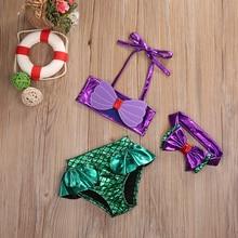 2017 Toddler Kids Baby Girls Bikini Set Tankini Bikinis Halter Swimwear Bow Swimsuit 2017 Bathing Beachwear