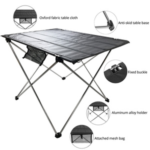 Image 3 - Mesa plegable portátil para pícnic, mesa de comedor al aire libre, ultraligera, alta Tabla de calificación, escritorio, mesa de Camping de aleación de aluminio 7075, color negro