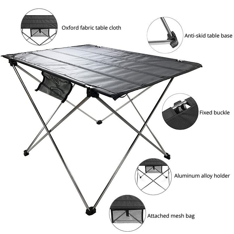 Image 3 - Portable Folding Table Picnic Outdoor Dining Table Ultralight Black High Grade Table Desk 7075 Aluminium Alloy Camping Table-in Outdoor Tables from Furniture