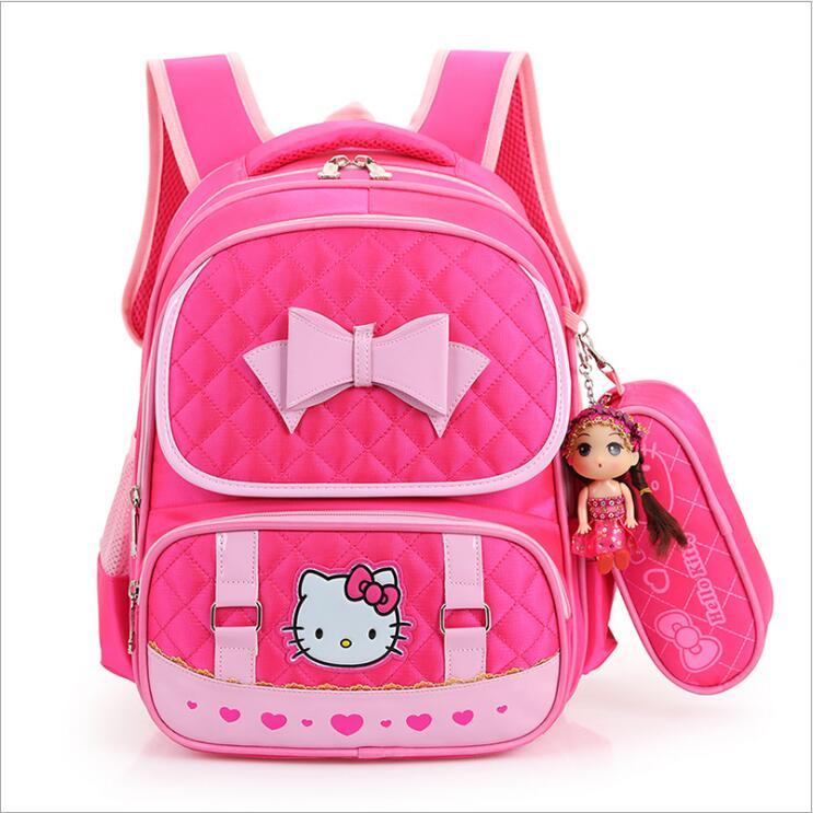 hello kitty children school bags for girls kids schoolbag