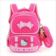 Hallo Kitty Kinder Schultaschen Für Mädchen Kinder Schultasche Cartoon Kinder Schule Rucksäcke Mochila Infantil 4 farben EWX