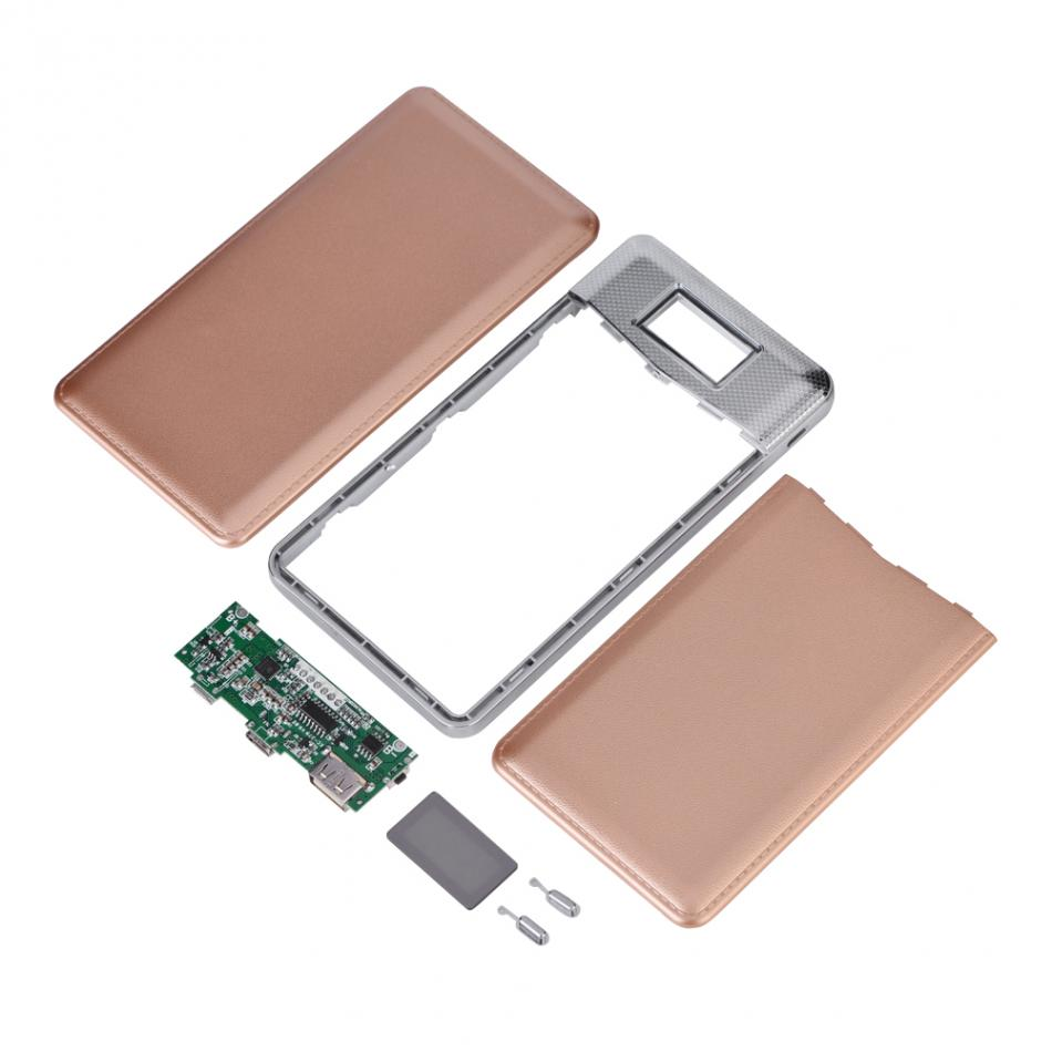 VBESTLIFE 6060100 Батарея Stoange коробка Мощность БАНК Дело DIY Kit QC3.0 Быстрая зарядка USB Зарядное устройство с Тип-C & micro USB Вход