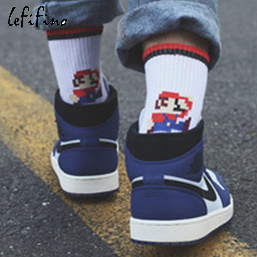 Mushroom Pattern Unisex Funny Casual Crew Socks Athletic Socks For Boys Girls Kids Teenagers