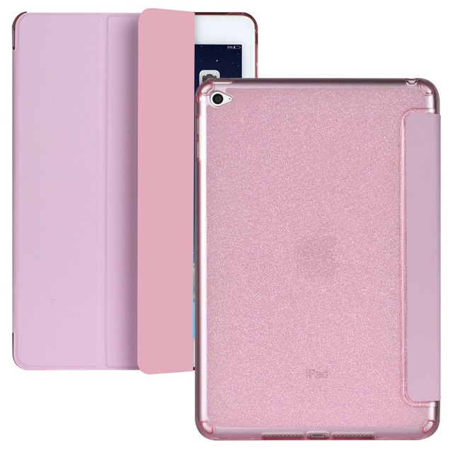 For Apple iPad Air2 Luxury Bling Glitter TPU Case for iPad Air 2 Adjustable Stand Tablet Flip Cover for iPad 6 Tablet Case CL251