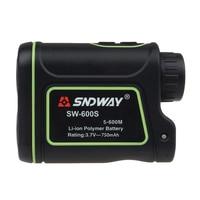 Free Shipping SNDWAY Distance Laser 600M Finder Outdoor Golf Rangefinder Meter Speed Measurer
