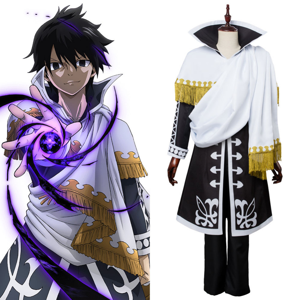 Fairy Tail Zeref·Dragneel Uniform cosplay costume Outfit custom