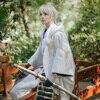 New Ranbu Online Tsurumaru Kuninaga Cosplay Touken White Samurai Costume Japanese Uniform Suits Game Cosplay Without