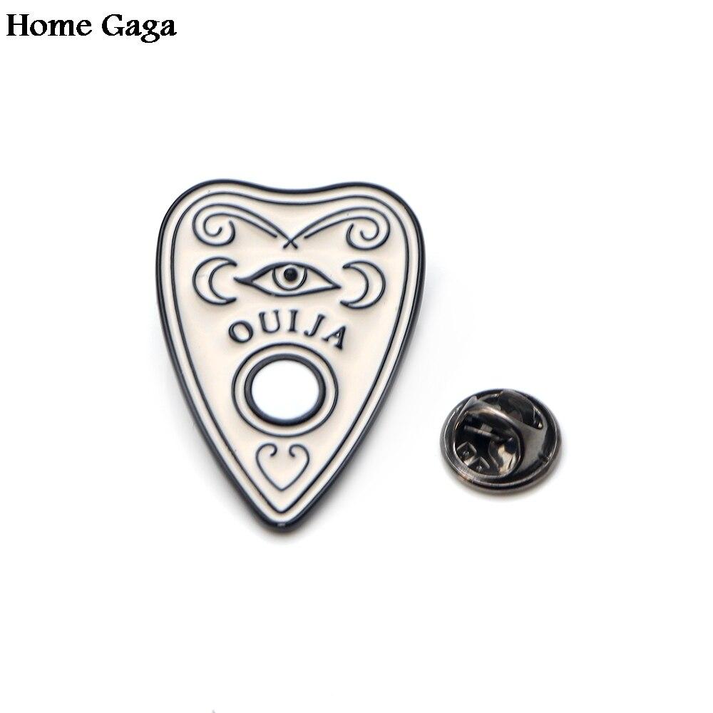 10pcslot Homegaga ouija boards Metal Zinc Enamel pins Trendy para backpack shirt clothes bag brooches badge for men women D0931