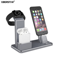 4 In 1 Aluminum Charging Stand Dock For Apple Watch Series 2 1 AirPods For IPhone