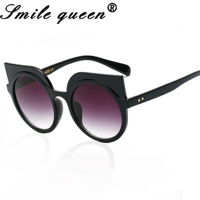 2017 Girl Fashion Luxury Brand Designer Retro Cat Eye Sunglasses Women Vintage Round Cateye Sun Glasses