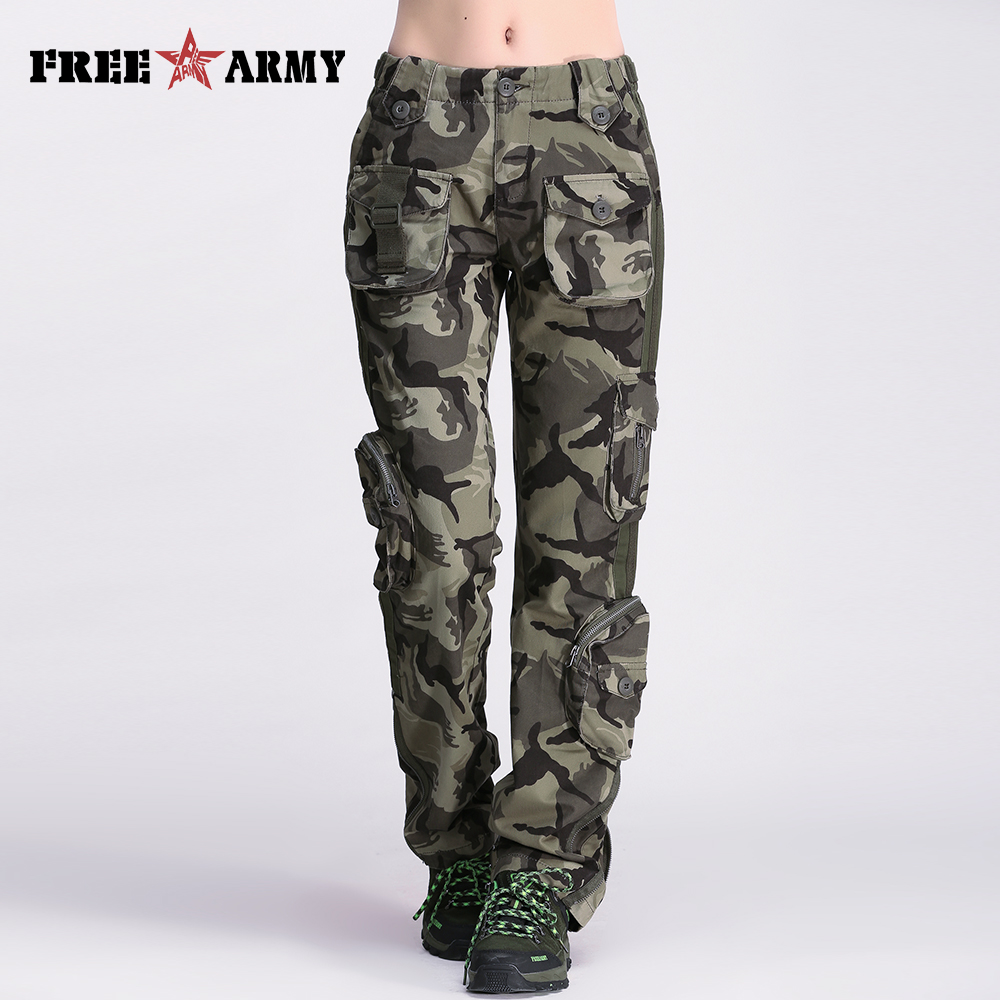 Brand Size Women Pants Camouflage Cargo Unisex & Capris Army Military