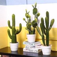Symulacja kaktus sukulenta sztuczny kaktus dekoracja wnętrz roślina pustynna tropikalna dekoracja krajobrazowa w Sztuczne rośliny od Dom i ogród na