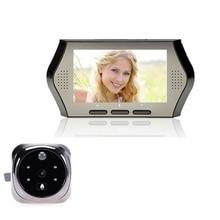 4 3 inch door viewer peephole camera 3X Zoom Multi language PIR Motion Sensor IR Night
